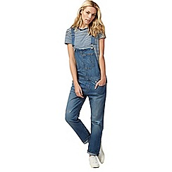Levi's - Blue distressed denim dungarees
