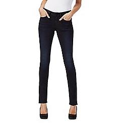 G-Star Raw - Dark blue high waisted skinny jeans