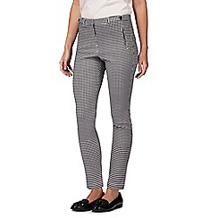 Red Herring - Black gingham print tailored trousers