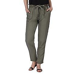 Red Herring - Khaki linen blend trousers