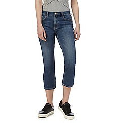 Red Herring - Dark blue 'Miley' high-waisted cropped jeans