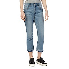 Red Herring - Light blue 'Miley' high-waisted cropped jeans