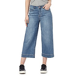 Red Herring - Blue wide leg cropped jeans