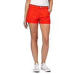Red Herring - Red denim shorts