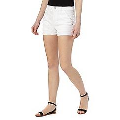 Red Herring - White denim shorts
