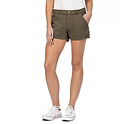 Red Herring - Khaki denim shorts