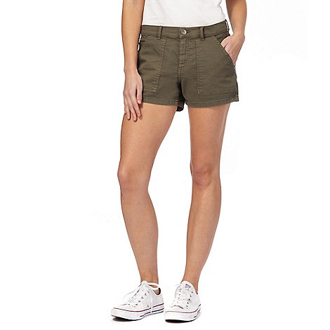 Red Herring Khaki denim shorts | Debenhams
