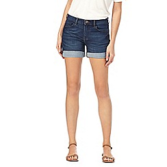 Red Herring - Blue denim cuffed shorts