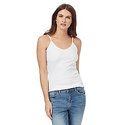 Red Herring - White ribbed camisole top