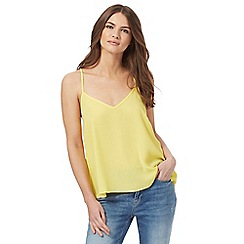 Red Herring - Yellow self tie cami top