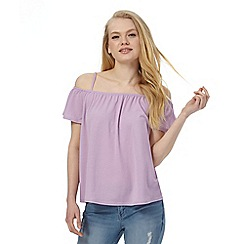 Red Herring - Lilac jersey bardot top
