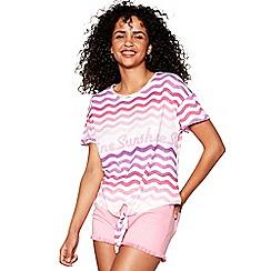 Red Herring - Pink 'Sunshine' print t-shirt