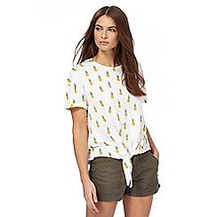 Red Herring - Ivory pineapple print t-shirt