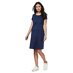 Red Herring Maternity - Navy space dye drawstring dress