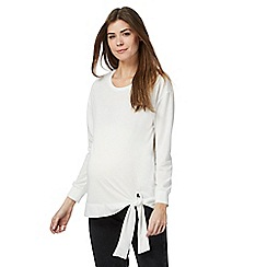 Red Herring Maternity - Ivory tie side sweater