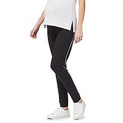 Red Herring Maternity - Black stripe sport maternity pants