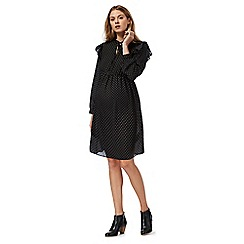 Red Herring Maternity - Black spotted pussybow dress