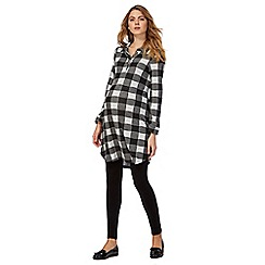 Red Herring Maternity - Grey checked shirt dress