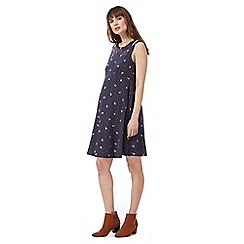 Red Herring Maternity - Navy sleeveless rosebud print dress