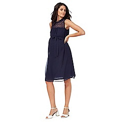 Red Herring Maternity - Navy lace yoke dress