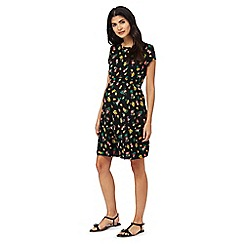 Red Herring Maternity - Black floral skater dress