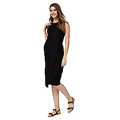 Red Herring Maternity - Black jersey knot front dress