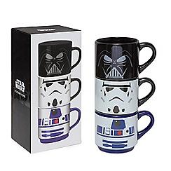 Star Wars - Set of three 'Star Wars' stacking mugs