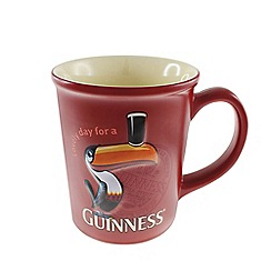 Guinness - Large Red Toucan Embossed Mug