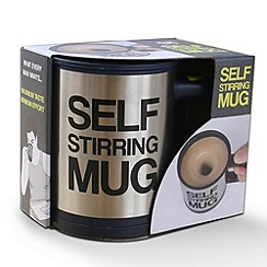 Debenhams - Silver self stirring mug