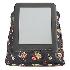 coz-e-reader - Ditsy Indigo Floral cushion stand for e-readers