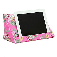 coz-e-reader - Neon Pink Floral cushion stand for tablets