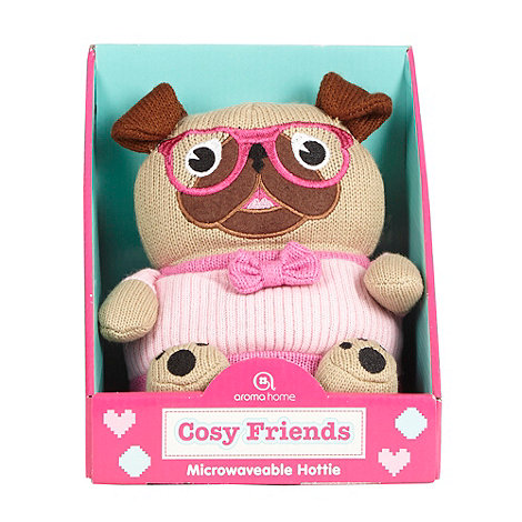 Aroma Home - Pink knitted microwaveable pug hottie