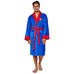 Superman - DC Comics blue bathrobe