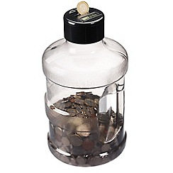 Debenhams - Supersize water bottle coin jar