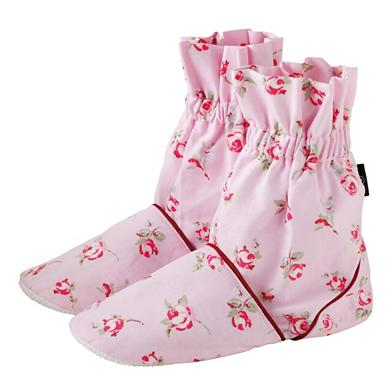 Pink rose feet warmers