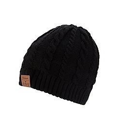 Amplified - Black Bluetooth headphone hat