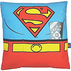DC Comics - Batman and Superman cushion with pockets