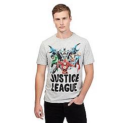 Sticks & Stones - Grey justice league t-shirt