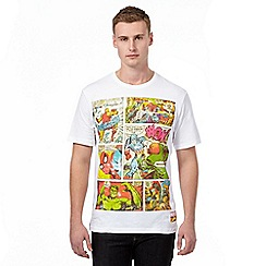 Marvel - White crew neck t-shirt in a gift box