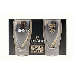 Guinness - Mini Embossed Glass