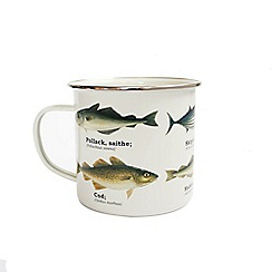 GO Entertain - Fish enamel mug