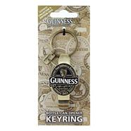Gold bottle and can opener keyring