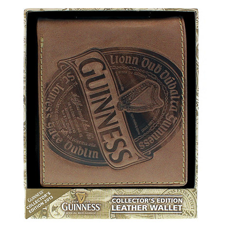 Guinness - Collectors edition brown leather wallet