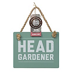 Shed Man - Head gardener wooden sign