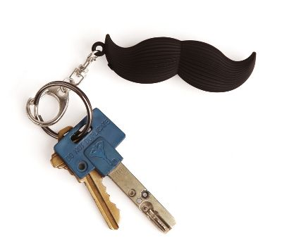 Talking Moustache Keychain - Debenhams