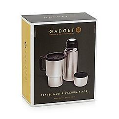 Debenhams - Stainless steel travel mug and vacuum flask