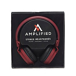 Amplified - Red stereo headphones