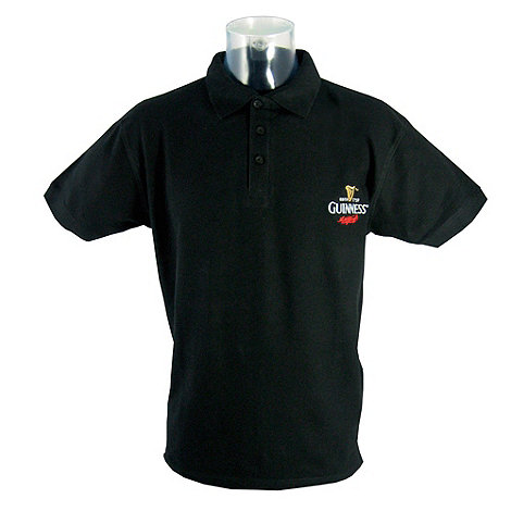 Guinness - Black embroidered polo shirt