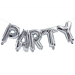 Ginger Ray - Bunting - Balloon - Party - Silver