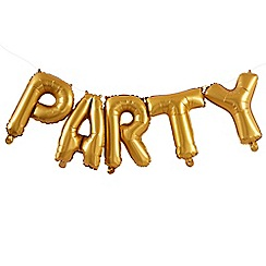 Ginger Ray - Bunting - Balloon - Party - Gold